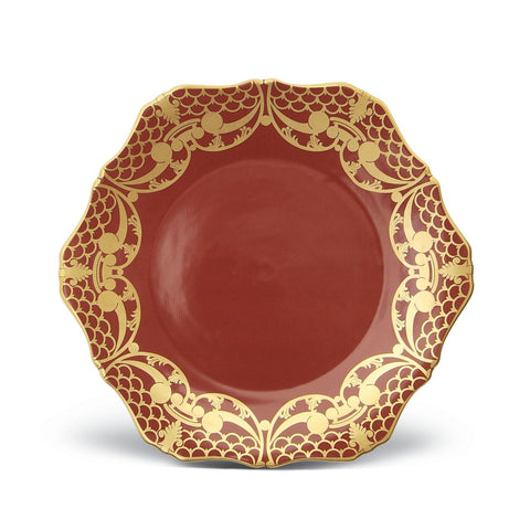 Alencon Red Dinner Plate
