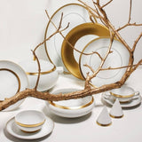 Domo Gold Consomme Cup & Saucer