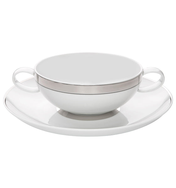 Domo Platina Consomme Cup & Saucer - RSVP Style
