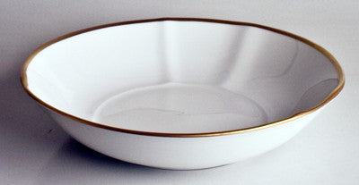 Simply Elegant White & Gold Bowl