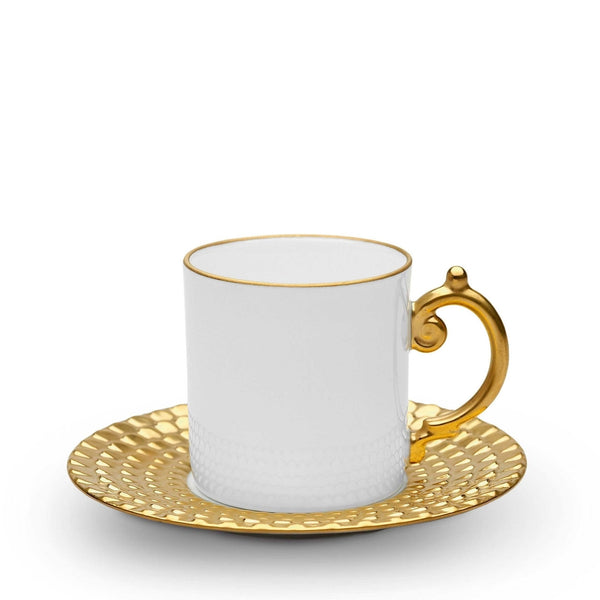 Aegean Sculpted Saucer & Espresso Cup, vendor-unknown - RSVP Style
