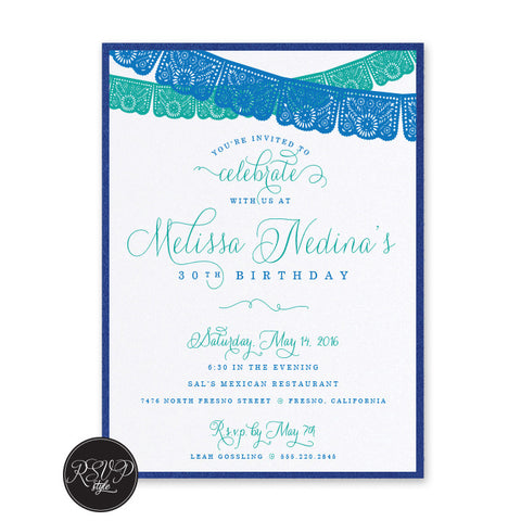 Fiesta Flags Birthday Invitation