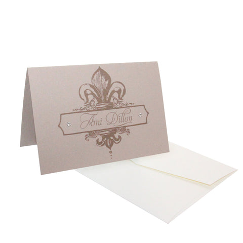 Fleur de Lis Personalized Stationery, RSVP-Style - RSVP Style