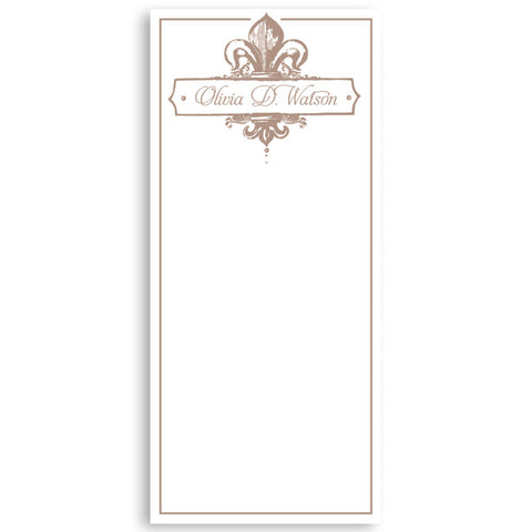 Customized Notepad Gift Set Fleur de Lis, RSVP-Style - RSVP Style