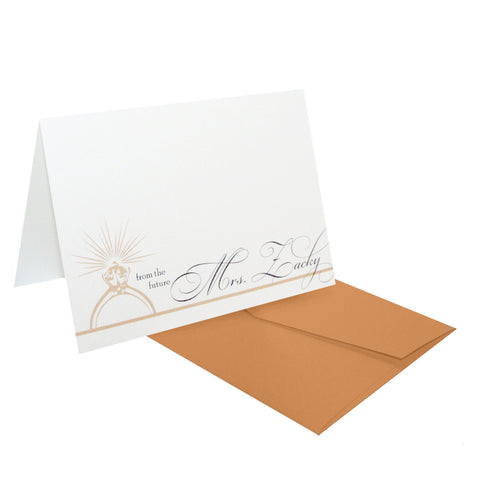 From the Future Mrs. Personalized Stationery