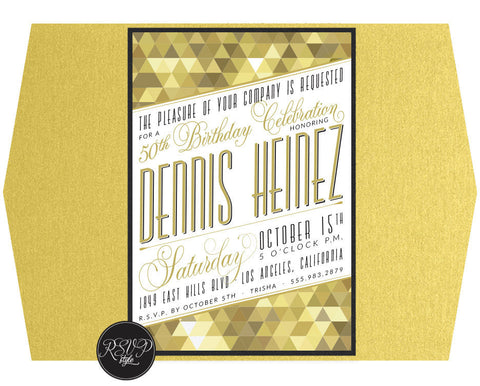 Gatsby Glitz Birthday Invitation