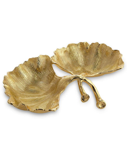 New Leaves Ginkgo Double Compartment Dish