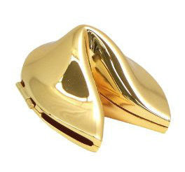 Gold Fortune Cookie Container