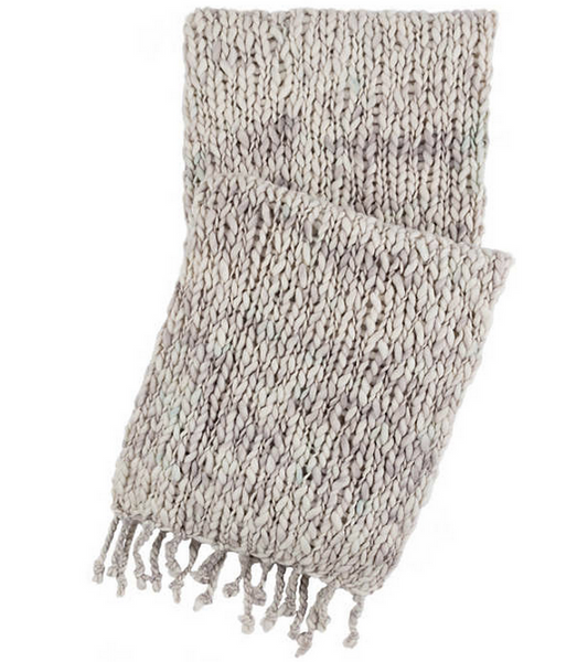 Chunky Knit Throw Blanket • Grey