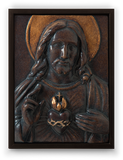 Memory Block  |  Jesus Sacred Heart in Chestnut