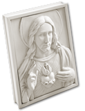 Memory Block  |  Jesus Sacred Heart in Bisque