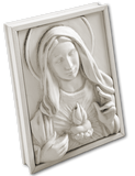 Memory Block  |  Immaculate Heart in Bisque