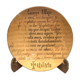 "Armenian Hayr Mer ""Lord's Prayer"" Decorative Glass Platter, RSVP Style - RSVP Style"