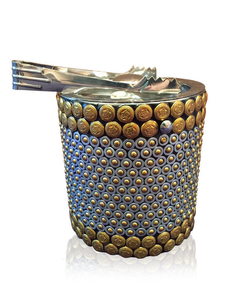 Heavy Metal Studded Ice Bucket