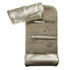 Small Jewelry Roll  Metallics Leather
