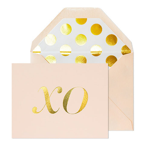 XO Gold Foil Card - RSVP Style