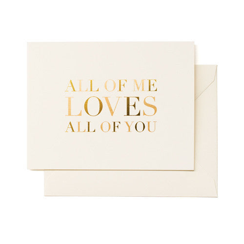 All of Me Loves All of You, Sugar Paper - RSVP Style