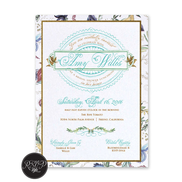 Love is in Bloom Bridal Shower Invitation