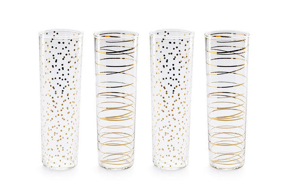 Luxe Moderne Flutes  |  Set of 4