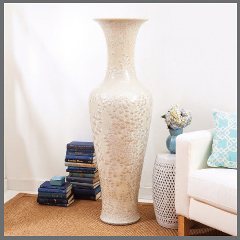 Long Necked Vase with Mother of Pearl Effect