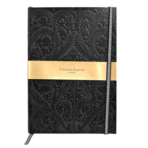 Christian Lacroix Paseo Embossed Black Notepad - A6