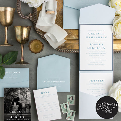 Something Borrowed Vintage Wedding Invitation Suite