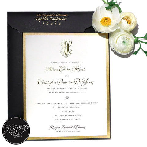 Magnificent Monogram Wedding Invitation Suite