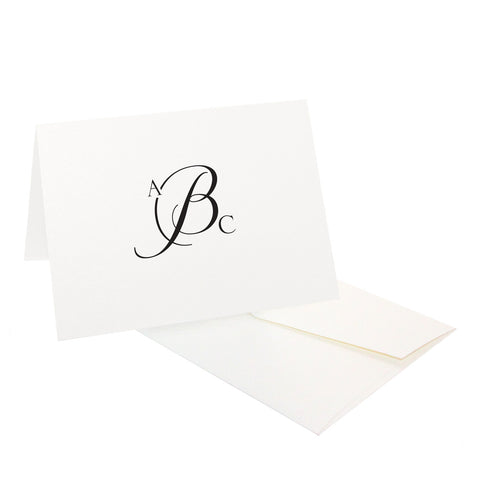 Simple Monogram Stationery