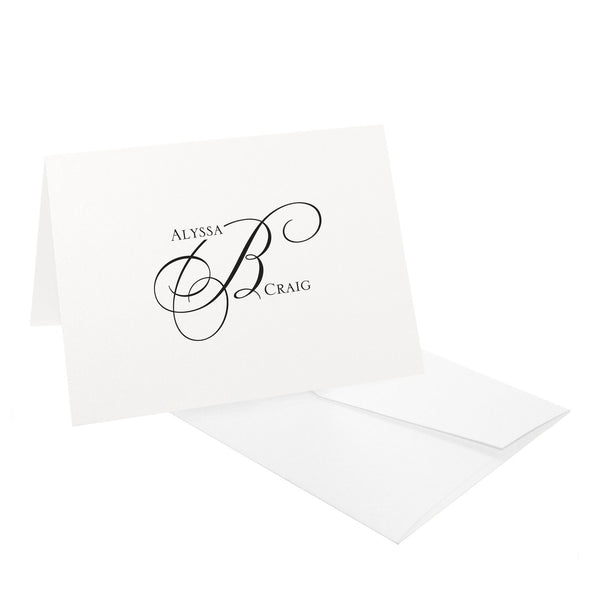 First Names Monogram Stationery