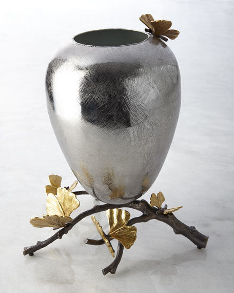Butterfly Ginkgo Medium Vase, vendor-unknown - RSVP Style