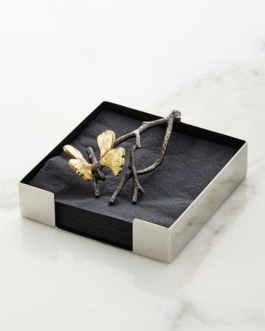 Butterfly Ginkgo Cocktail Napkin Holder, Michael Aram - RSVP Style