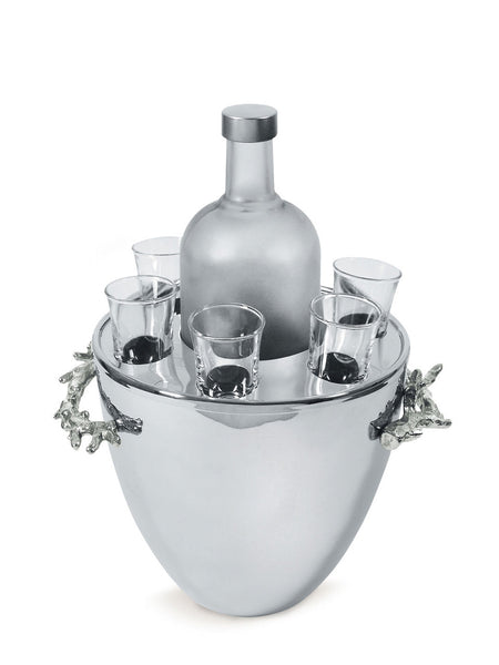 Ocean Collection Coral Vodka Service & Ice Bucket - RSVP Style