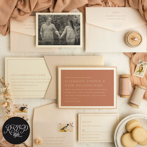 Open Arms Modern Minimalist Wedding Invitation Suite