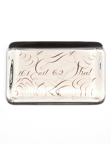Glass Paperweight with Personalized Calligraphy | Rectangle