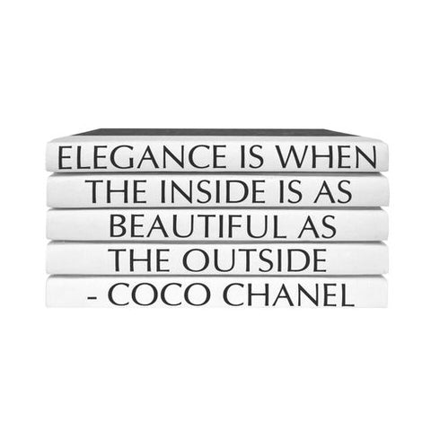 Quotation Stacking Books- Coco Chanel - RSVP Style