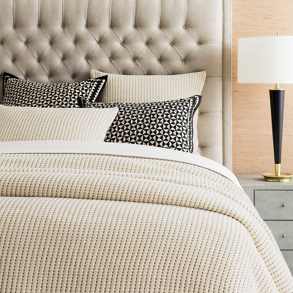 Pick Stitch Matelassé Coverlet • Natural