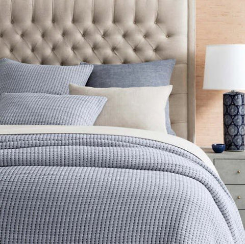 Pick Stitch Matelassé Coverlet • Navy