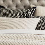 Pick Stitch Matelassé Coverlet • Natural - RSVP Style