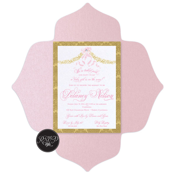 Elegant Garland Baby Shower Invitation