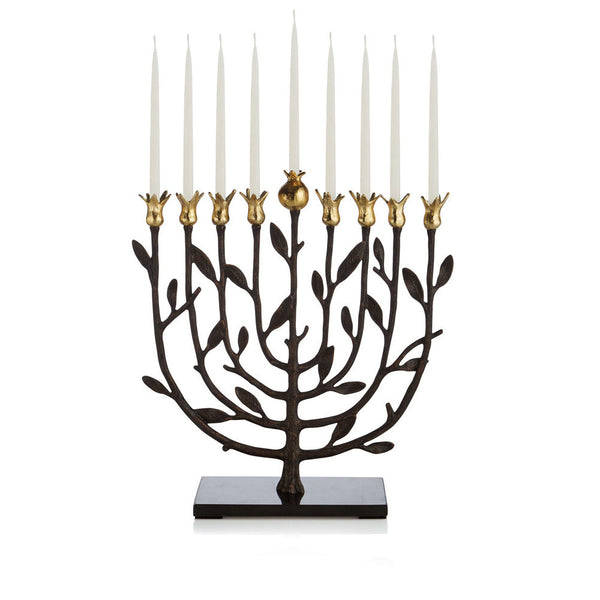 Pomegranate Kosher Menorah - RSVP Style