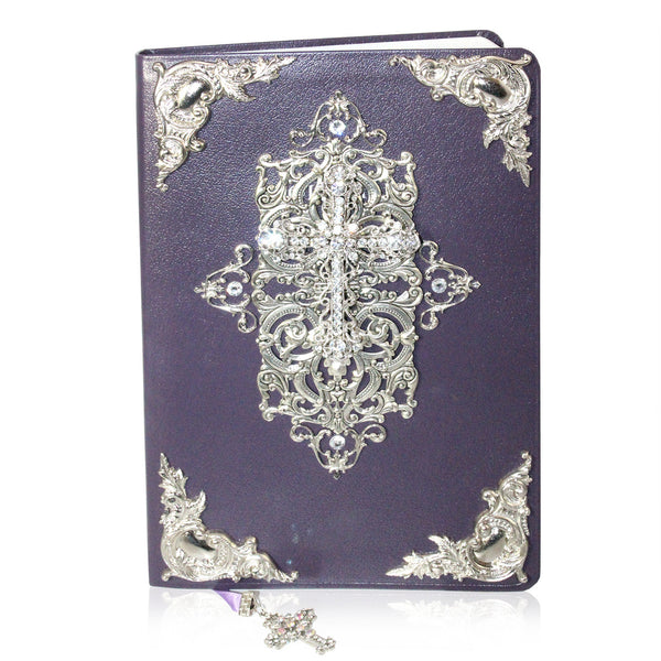 Heirloom Family Bible | Purple & Silver