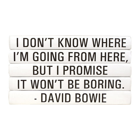 Quotation Stacking Books- David Bowie - RSVP Style