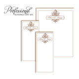 Customized Notepad Gift Set | Gold Corners