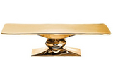 Rock Rectangle Cake Stand Gold