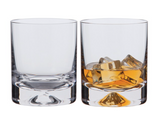 Crystal Dimple Old Fashioned Whiskey Glass Set of 2