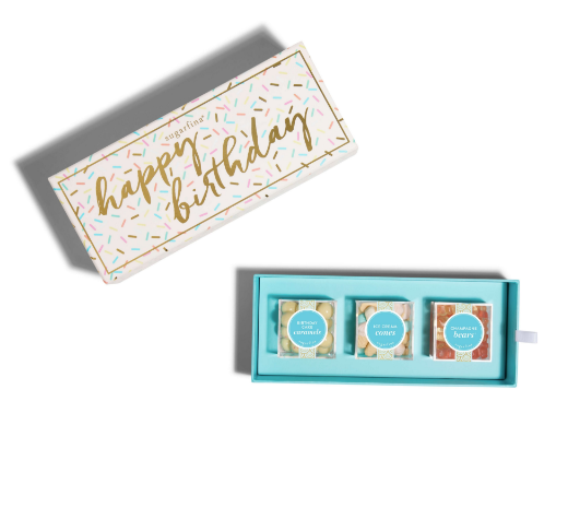 Design Your Own Happy Birthday 3 Piece Candy Bento Box