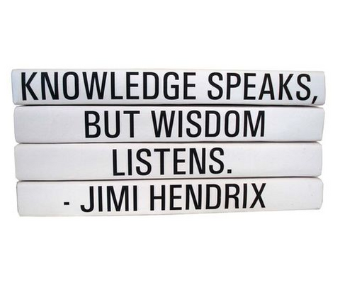 Quotation Stacking Books- Jimi Hendrix - RSVP Style