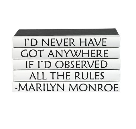 Quotation Stacking Books- Marilyn Monroe
