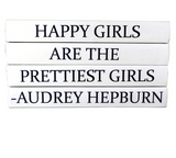 Quotation Stacking Books- Audrey Hepburn - RSVP Style