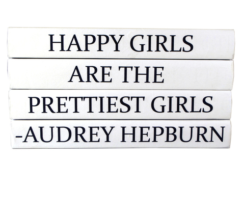 Quotation Stacking Books- Audrey Hepburn